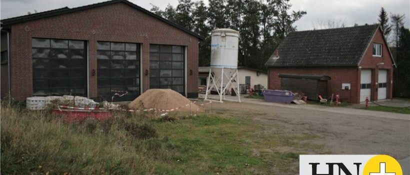 heute beginnen wir mit den Dämmarbeiten bei der Rettungswache in Groß Twülpstedt
